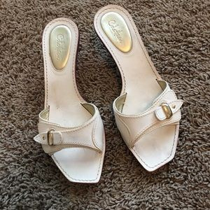 Cole Haan Shoes - Cole Haan cream leather slides sz 8.5